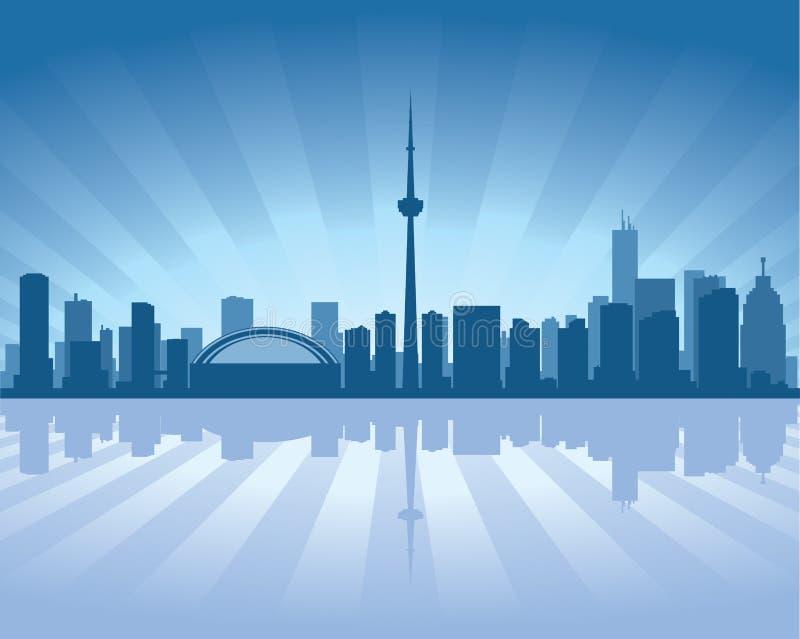 De horizon van Toronto royalty-vrije illustratie