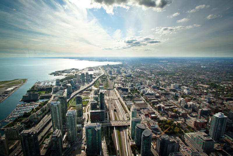 De Horizon van Toronto royalty-vrije stock afbeelding