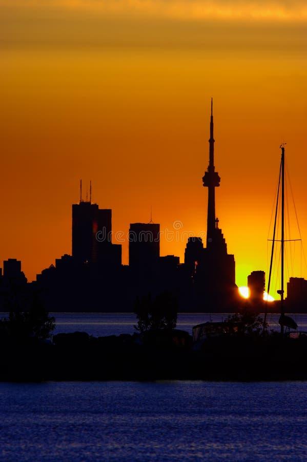 De Horizon van Toronto in Dawn royalty-vrije stock fotografie