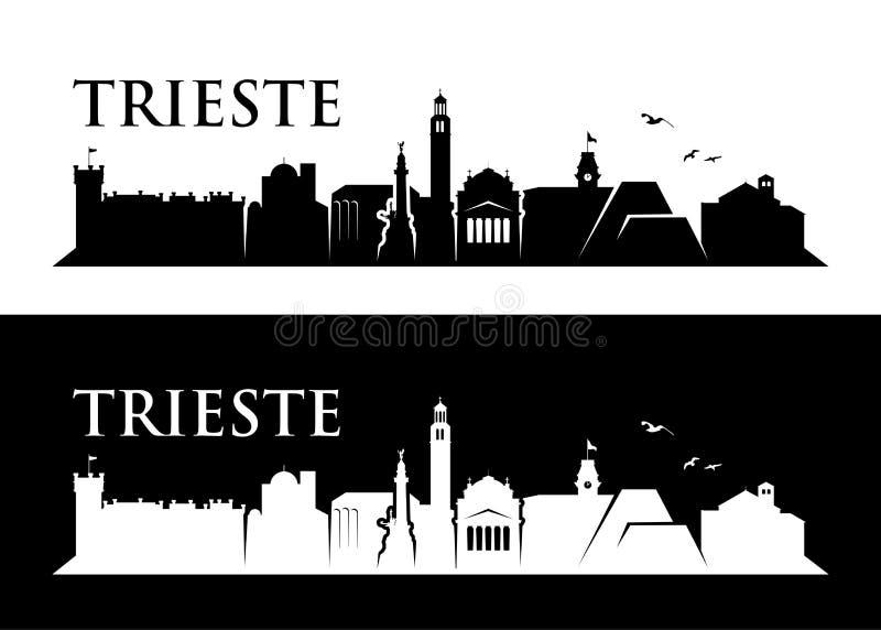 De horizon van Triëst - Italië - vectorillustratie stock illustratie