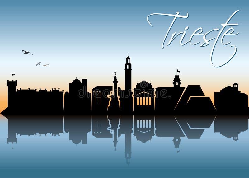 De horizon van Triëst - Italië - vectorillustratie vector illustratie
