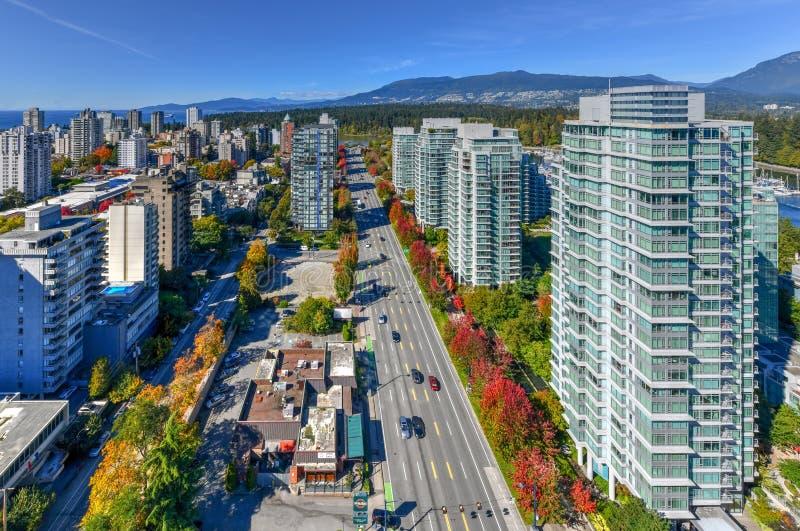 De horizon van Vancouver, Canada royalty-vrije stock afbeeldingen