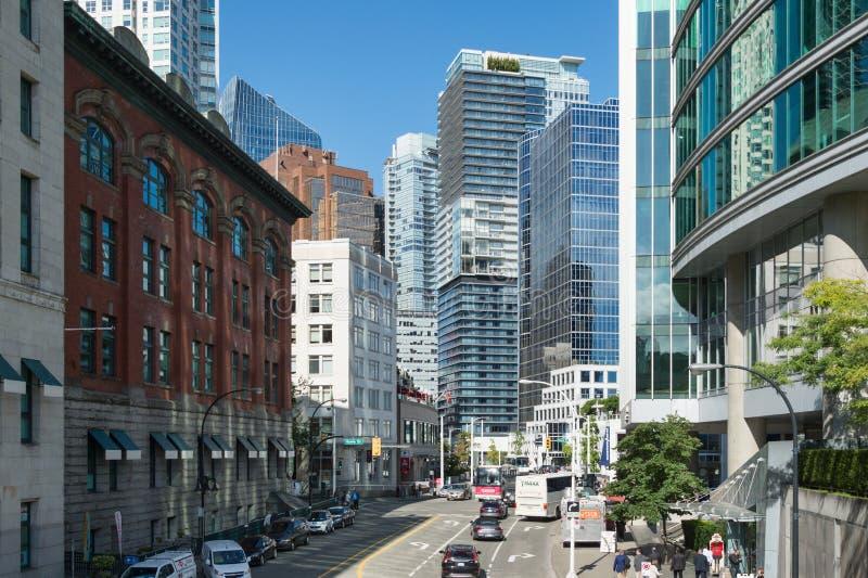 De Horizon van Vancouver van Cordova-Straat royalty-vrije stock foto's