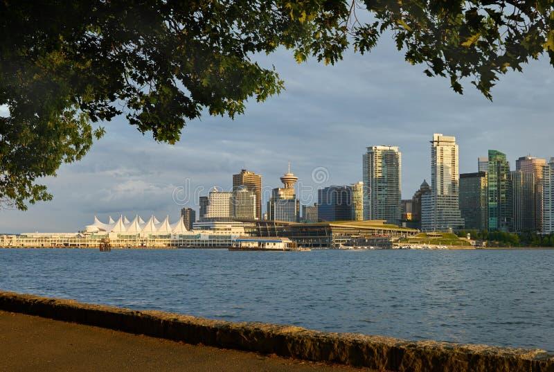 De horizon van Vancouver van Stanley Park royalty-vrije stock afbeelding