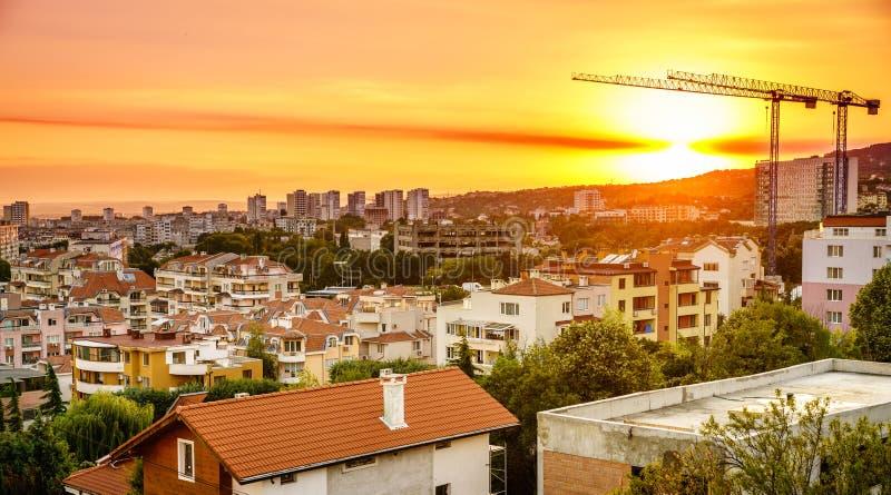 De horizon van Varna stock afbeeldingen