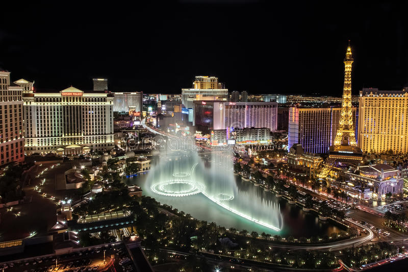 De horizon van Vegas van Las stock foto