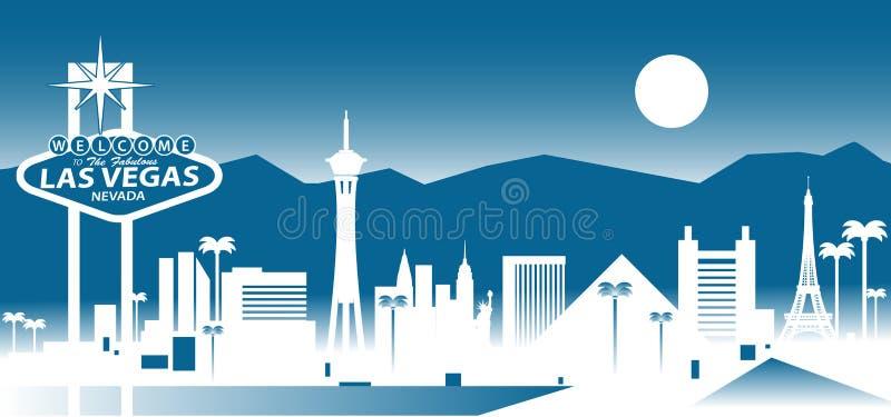De horizon van Vegas van Las stock illustratie