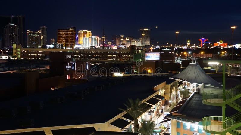 De horizon van Vegas van Las bij nacht royalty-vrije stock foto