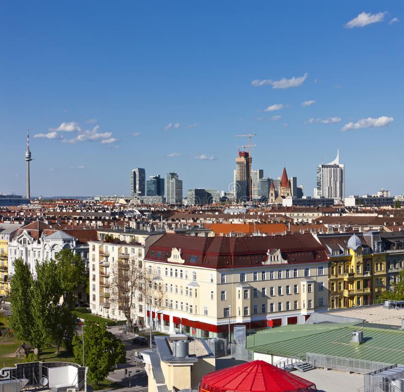 De Horizon van Wenen royalty-vrije stock afbeeldingen