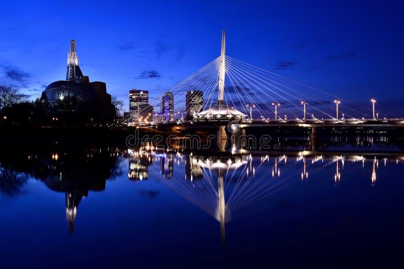 De Horizon van Winnipeg stock fotografie