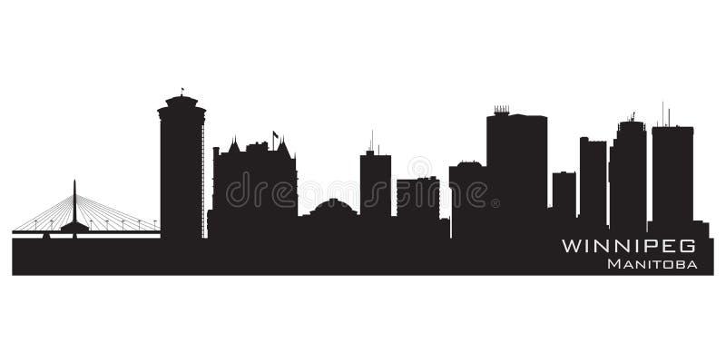 De horizon van Winnipeg, Canada Gedetailleerd stadssilhouet royalty-vrije illustratie