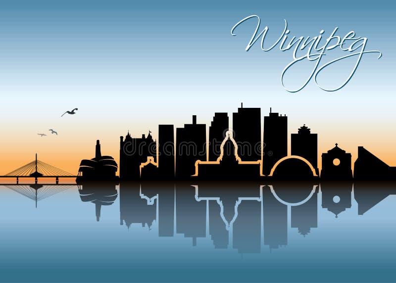 De horizon van Winnipeg - Canada - vectorillustratie royalty-vrije illustratie