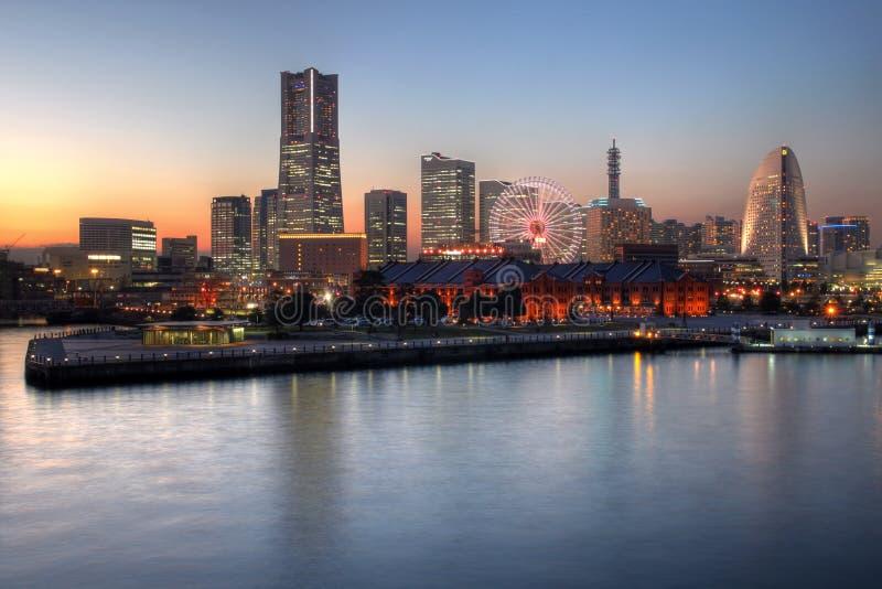 De horizon van Yokohama, Japan royalty-vrije stock afbeeldingen