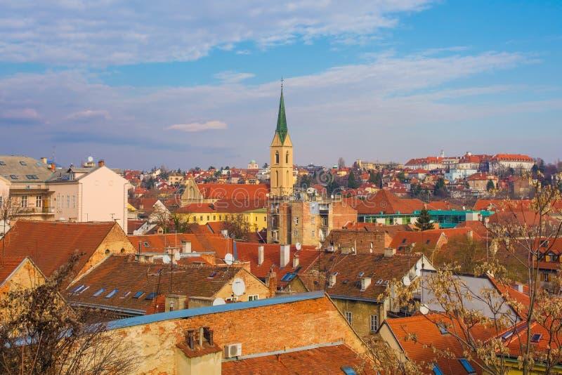 De horizon van Zagreb stock foto's