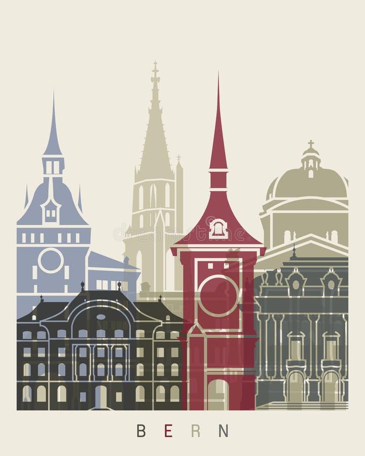 De horizonaffiche van Bern royalty-vrije illustratie