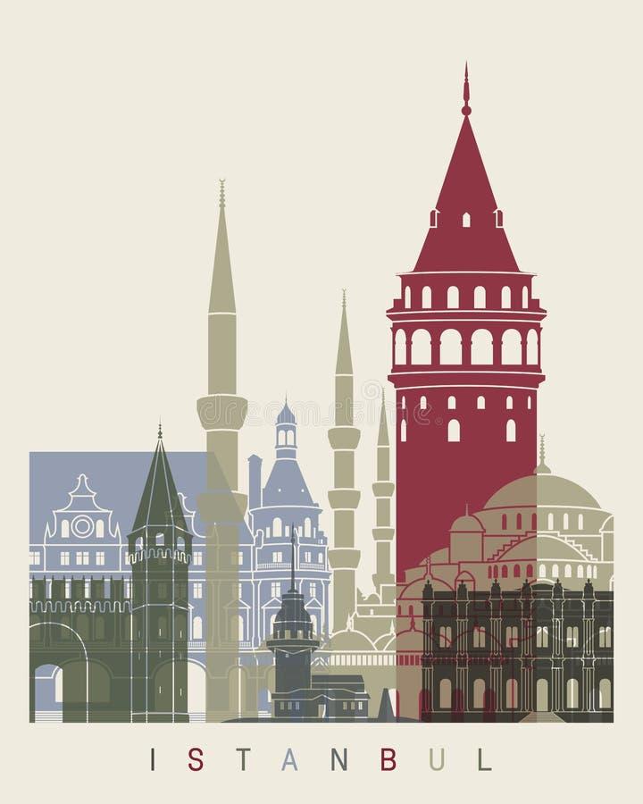 De horizonaffiche van Istanboel stock illustratie