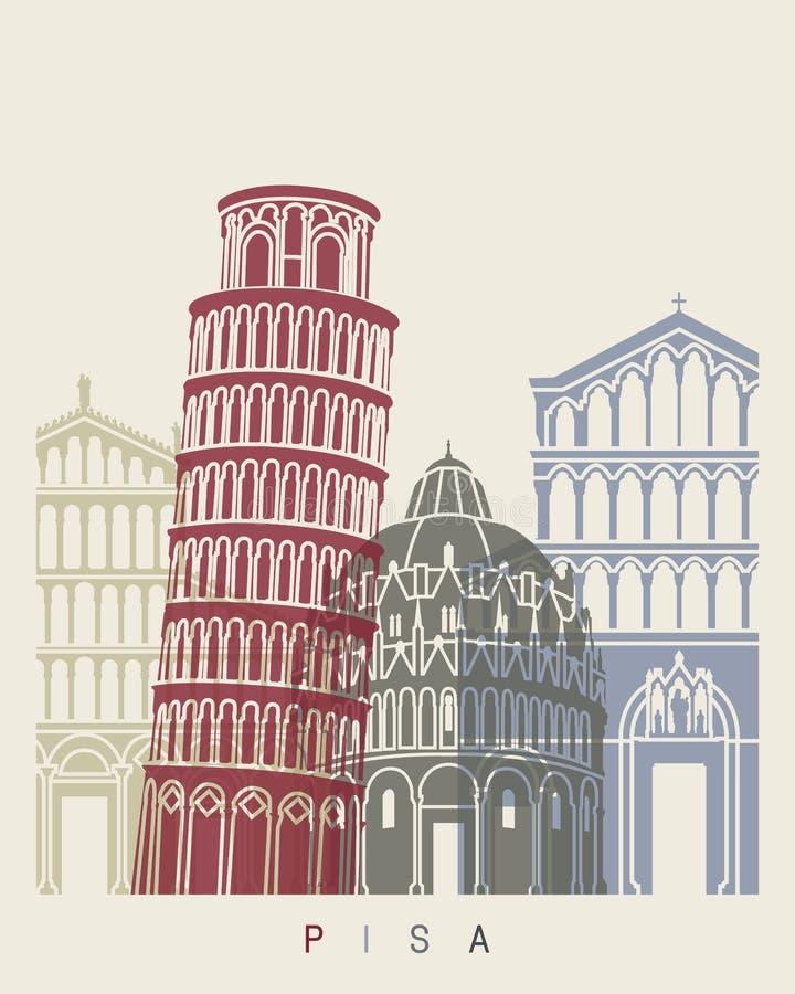 De horizonaffiche van Pisa vector illustratie