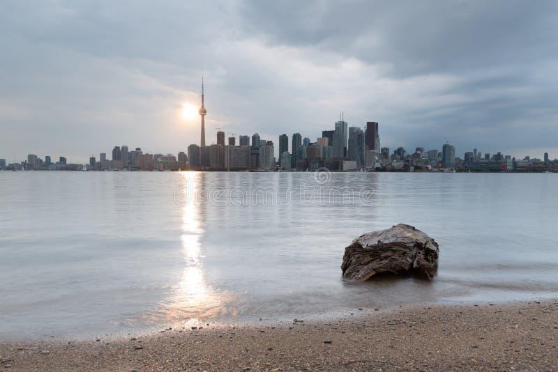 De Horizoncityscape van Toronto stock afbeeldingen