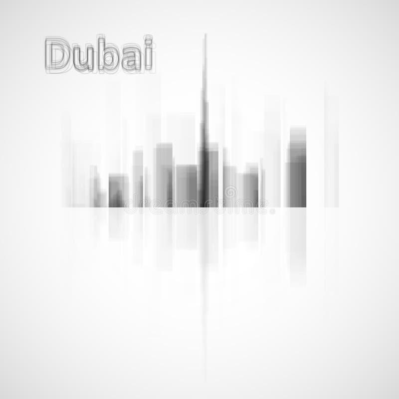 De horizonillustratie van Doubai royalty-vrije illustratie