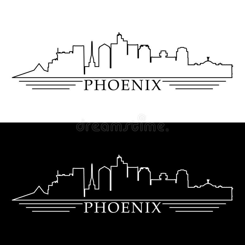 De horizonkaart van Phoenix royalty-vrije illustratie