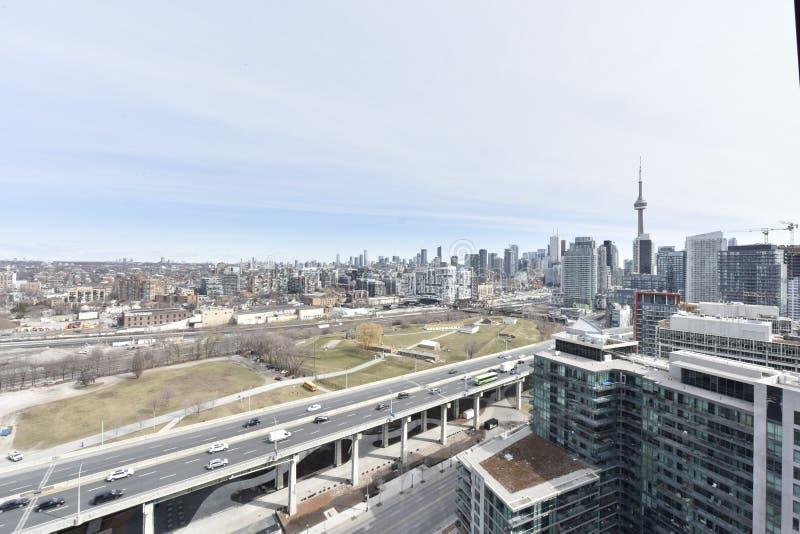 De horizonmening van Toronto royalty-vrije stock foto's