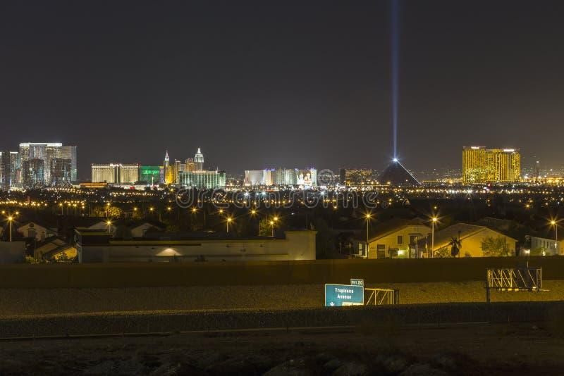 De Horizonnacht van Las Vegas royalty-vrije stock afbeeldingen