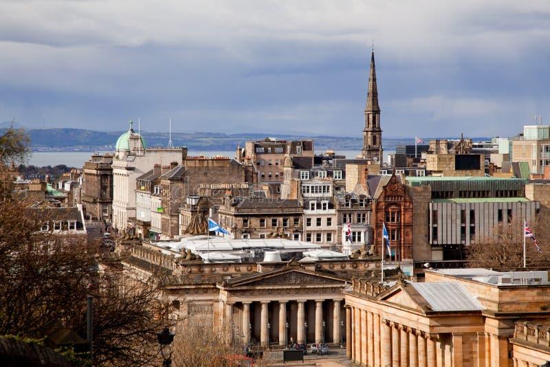 De Horizonnen van Edinburgh stock afbeelding