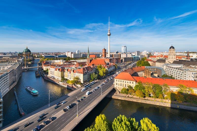 De horizonpanorama van Berlijn royalty-vrije stock foto