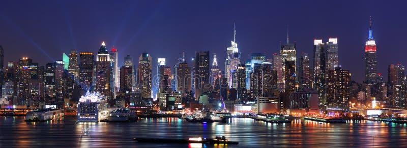 De horizonpanorama van Manhattan van de Stad van New York stock afbeelding