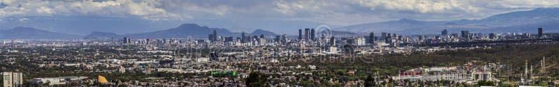 De horizonpanorama van Mexico-City stock fotografie