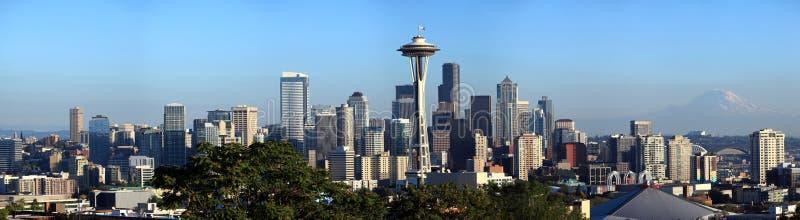 De horizonpanorama van Seattle, de staat van Washington. royalty-vrije stock foto's