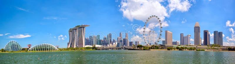 De Horizonpanorama van Singapore stock afbeeldingen