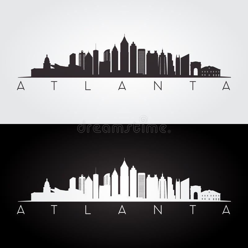De horizonsilhouet van Atlanta royalty-vrije illustratie