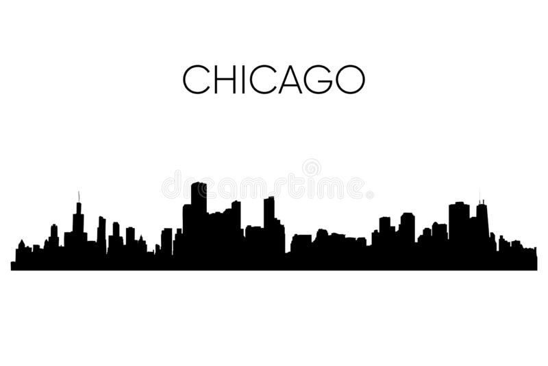 De horizonsilhouet van Chicago Vector illustratie vector illustratie