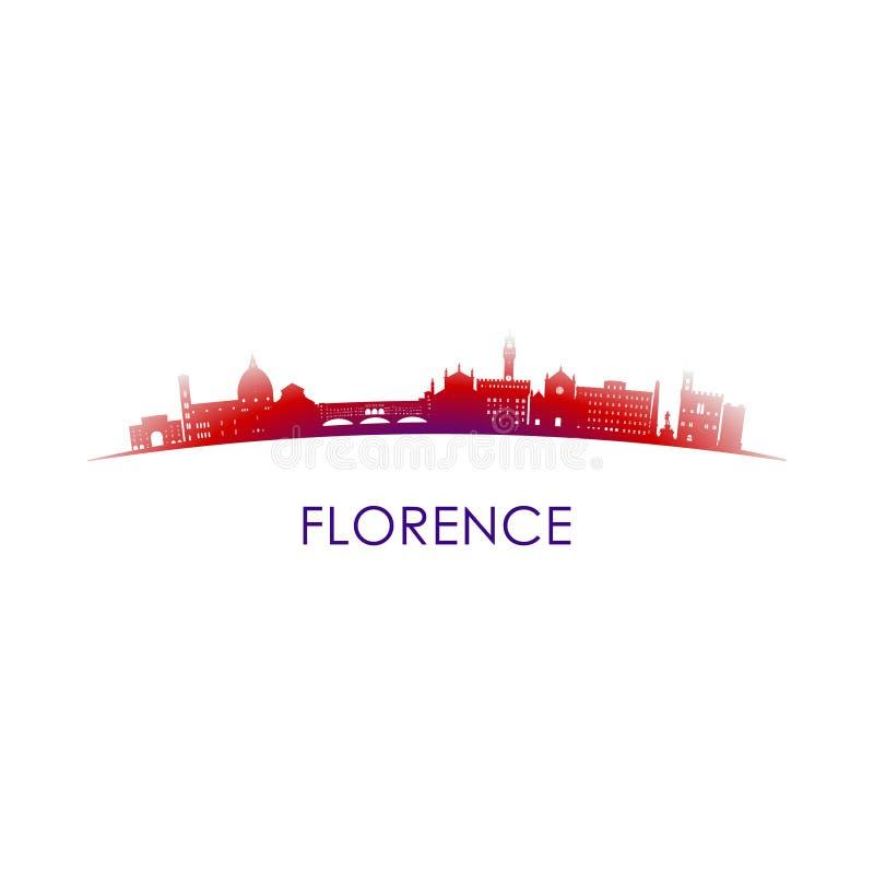 De horizonsilhouet van Florence, Italië vector illustratie