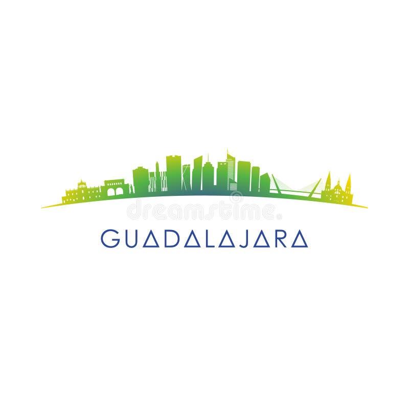 De horizonsilhouet van Guadalajara, Mexico vector illustratie