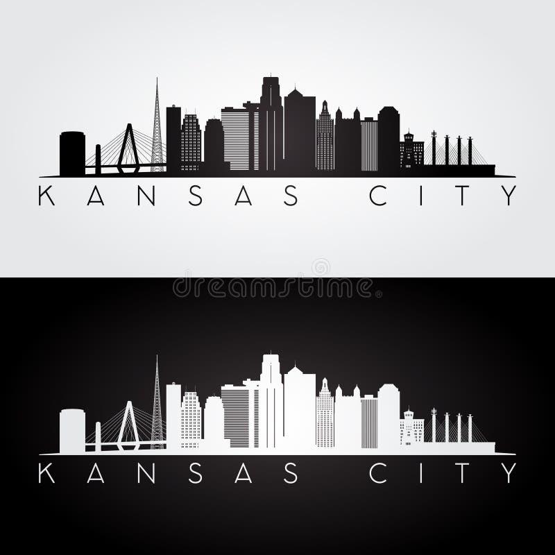 De horizonsilhouet van Kansas City vector illustratie