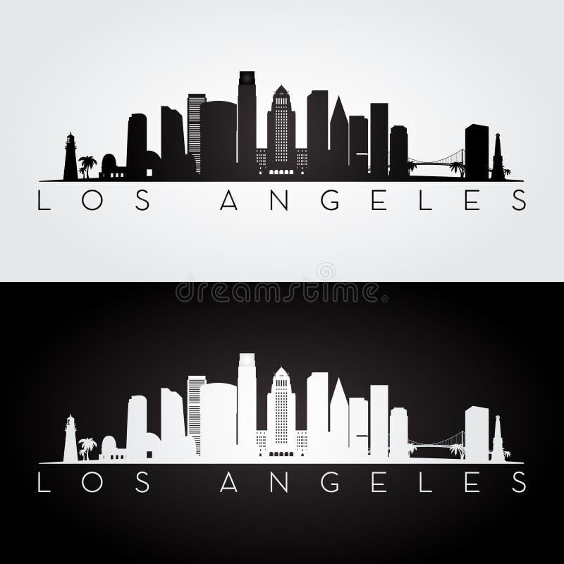 De horizonsilhouet van Los Angeles vector illustratie