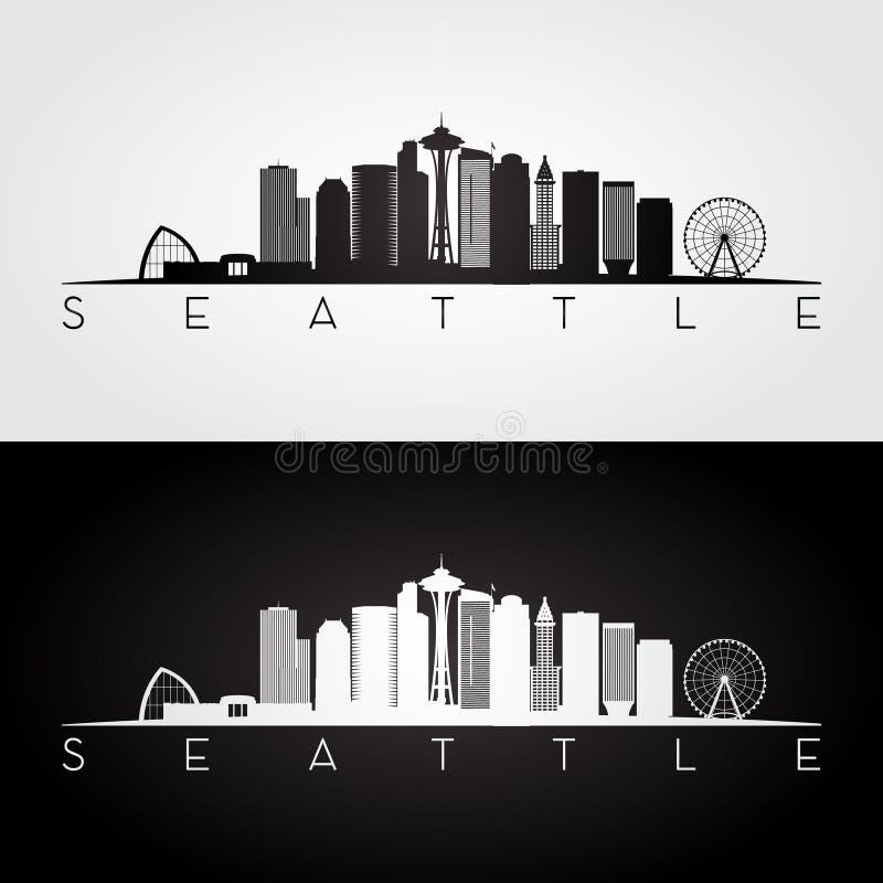 De horizonsilhouet van Seattle royalty-vrije illustratie