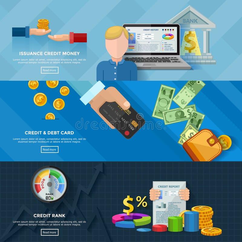 De Horizontale Banners van de Kredietstandaard stock illustratie