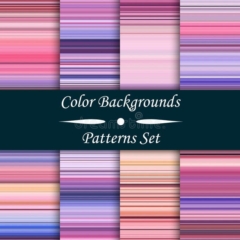 De horizontale kleurrijke strepen abstracte achtergrond, uitgerekte pixel voert, naadloze patronen, reeks, illustratie uit royalty-vrije illustratie