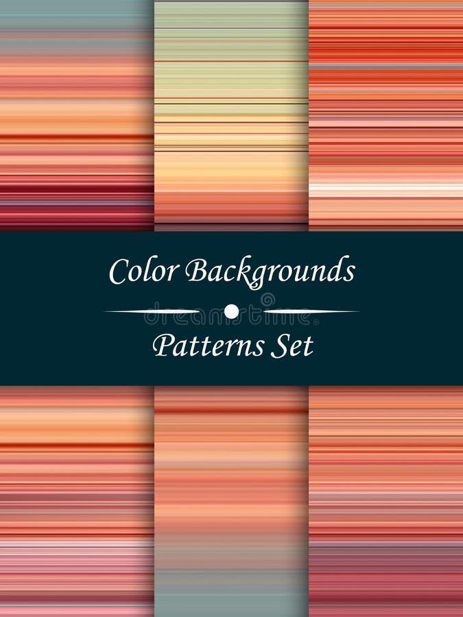 De horizontale kleurrijke strepen abstracte achtergrond, uitgerekte pixel voert, naadloze patronen, reeks, vector uit stock illustratie