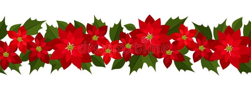 De horizontale naadloze achtergrond van Kerstmis stock illustratie