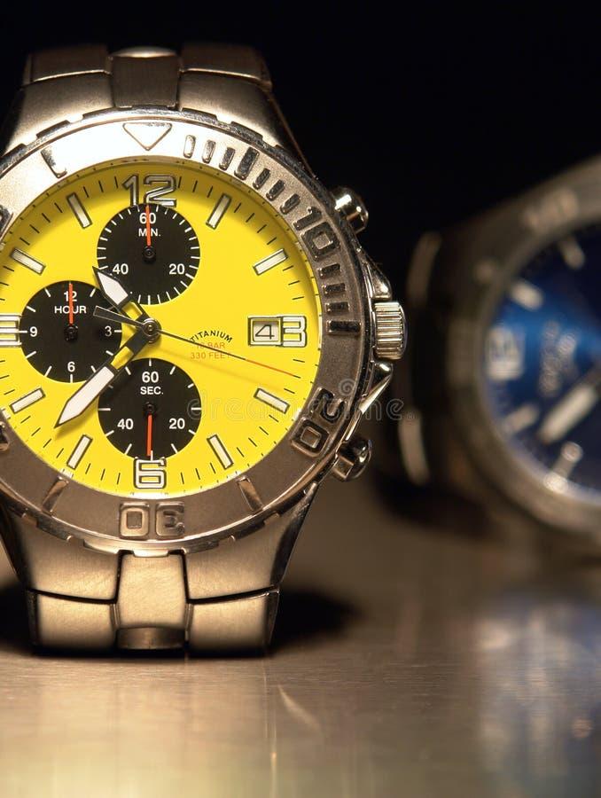 De Horloges van het titanium royalty-vrije stock foto's