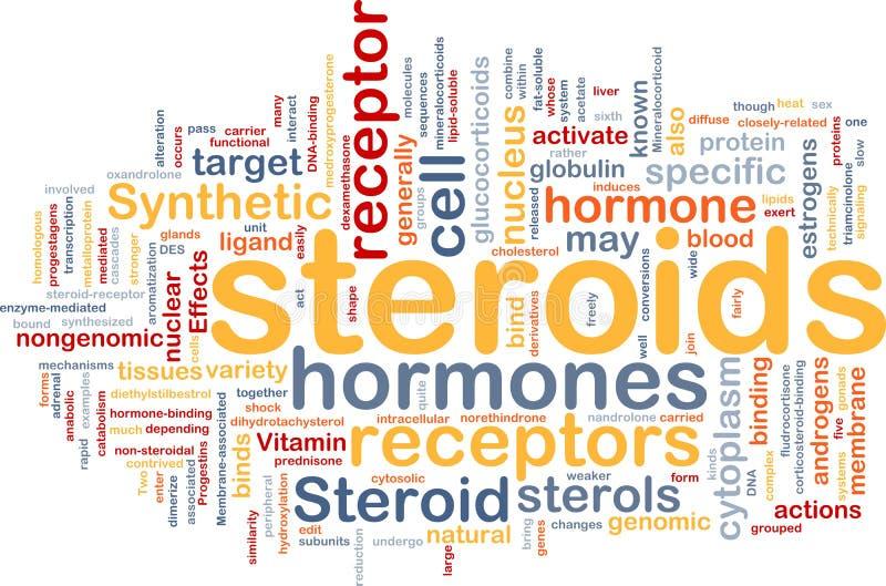 De hormonen van achtergrond steroïden concept vector illustratie