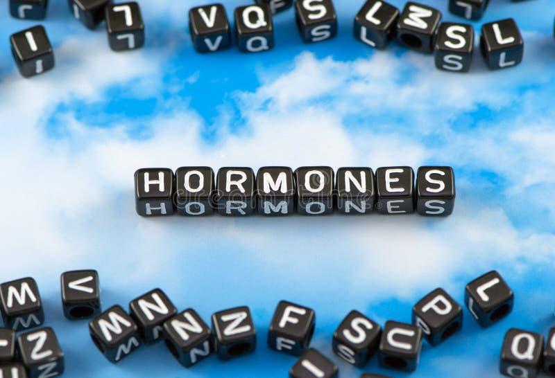 De Hormonen van het woordgezicht stock afbeeldingen