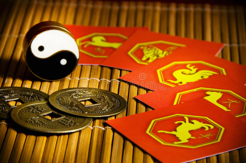 De horoscoop van China royalty-vrije stock fotografie