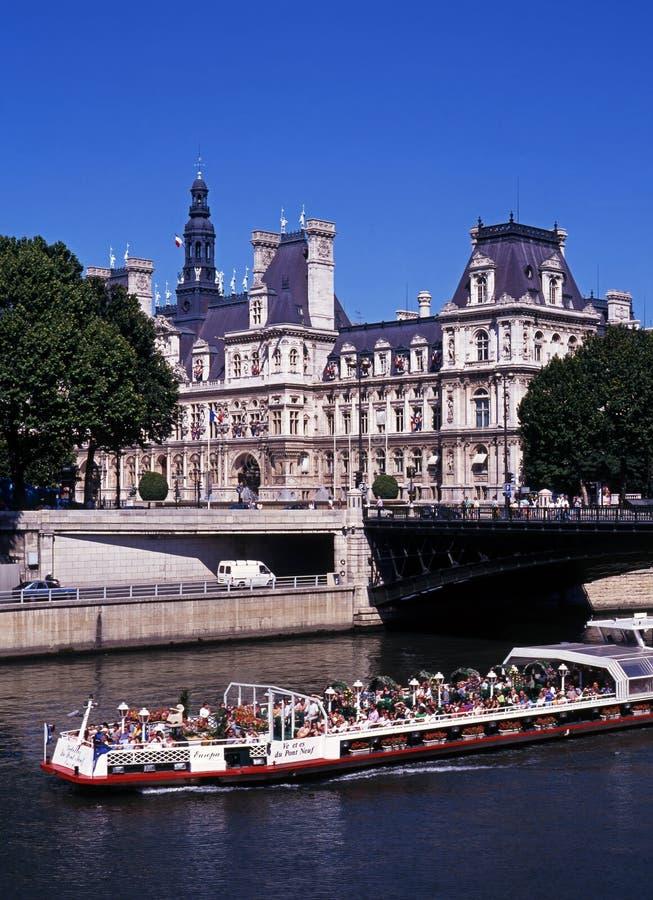 de hotel巴黎ville 免版税库存照片
