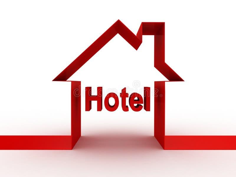 De Hotelbouw, 3D Beelden Stock Afbeeldingen