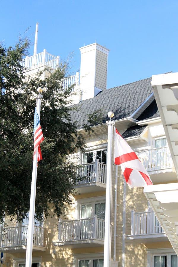 De hotelbouw in Florida stock afbeelding